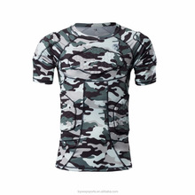 Sublimation Camo Compression Guard Sports Protective Padded American Football & Basketball T Shirts