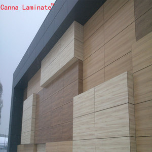 canna Exterior HPL Phenolic Hospital hpl Wall Cladding Dry Hanging Fixing System