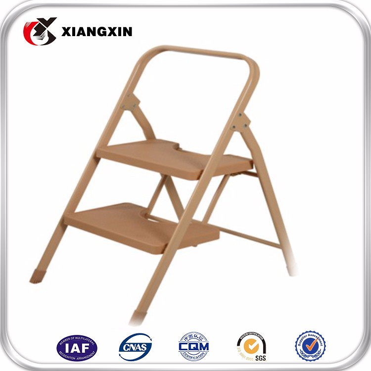 foldaway 3 stool plastic double side step ladder with handle,plastic feet for ladder