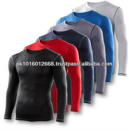 High quality mens fitness long sleeve tops Cold gear base layer