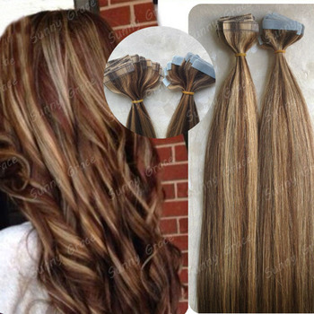 Mix omber virgin tape hair extension top quality glue mix tone mix omber virgin tape hair extension top quality glue mix tone color remy tape hair extension pmusecretfo Image collections