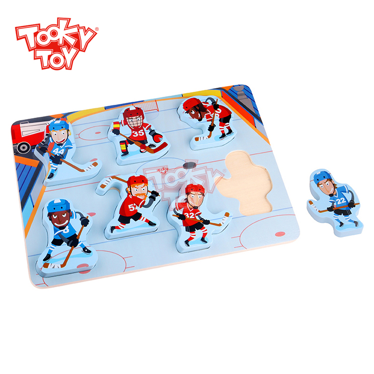 Exciting Wooden Ice Hockey Puzzle