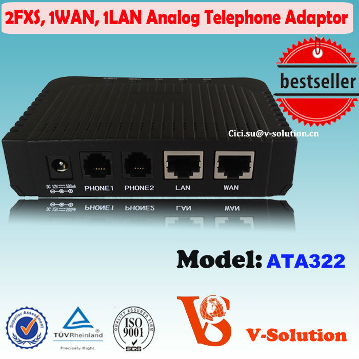 2FXS+1WAN+1LAN VoIP Phone Adapter Similar with Linksys PAP2T