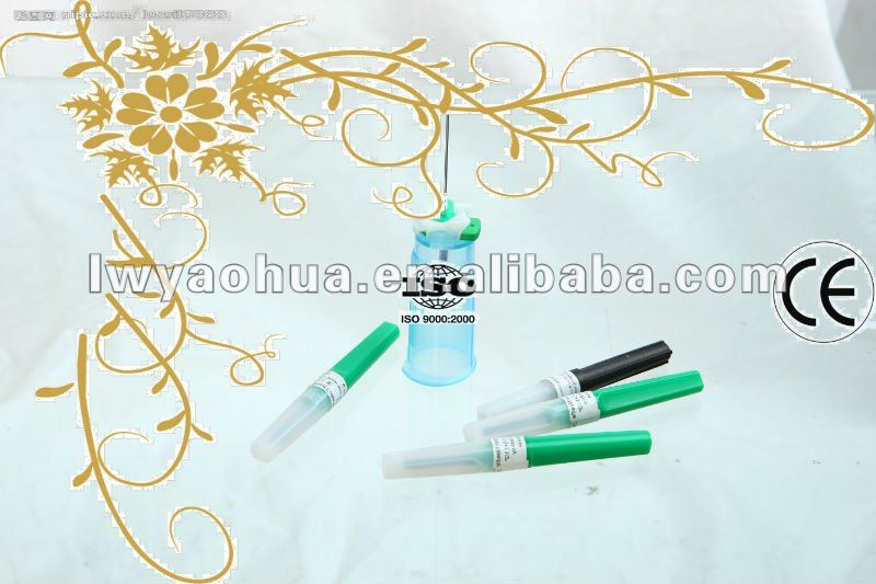 disposable vacuum blood collection needle 21G green CE marked