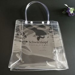 PVC handbags transparent plastic cosmetics shampoo packaging bags
