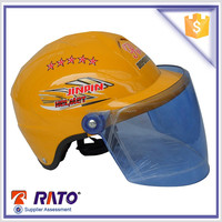yellow motorcycle half helmet motor bike helmet
