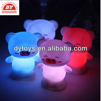 Made in china toys ,vinyl pig led light up toy,cheap light up toys