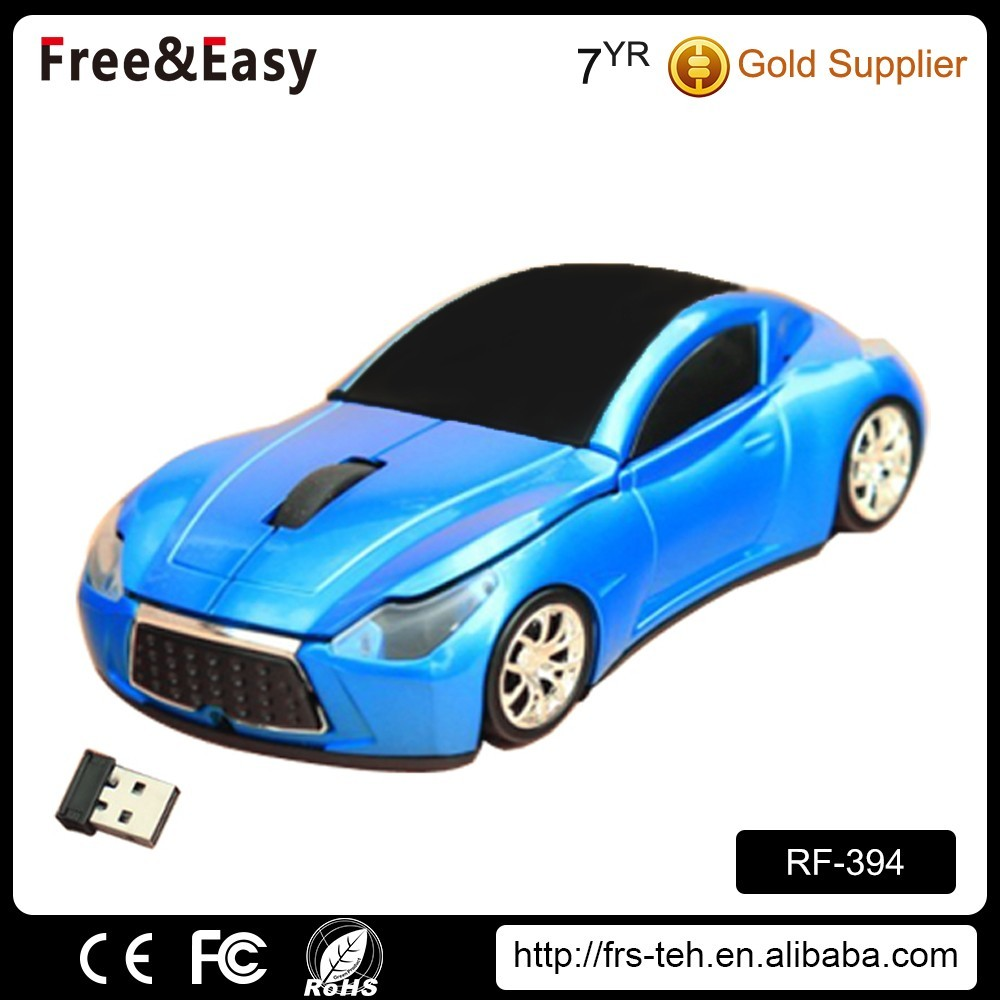 New 2.4g wireless racing car shaped click mouse
