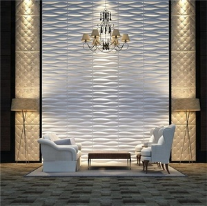 2018 new style interior fire resistant decorative pvc 3d wall panel