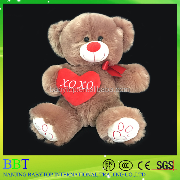 Promotional Valentine's Day Gifts Romantic LED Night Light Stuffed Plush Toys Teddy Bear for girlfriend