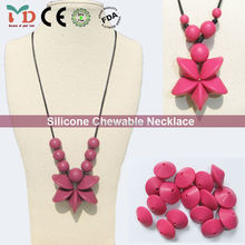 Bead Necklace/Latest Design Food Grade Baby Chewable Silicone Bead Necklace