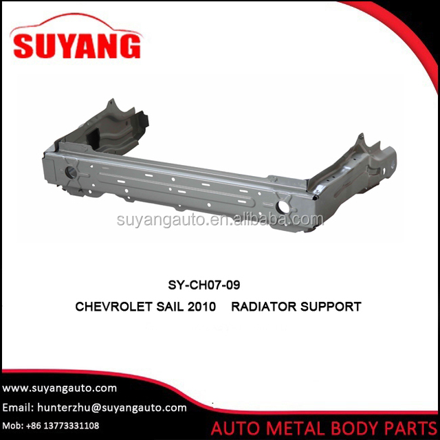 Aftermarket radiator support for Chevrolet sail auto body parts