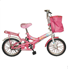 high quality bicycle supplier from china hebei factory girl pink 16 inch folding bike