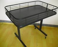 Wire display shelving / retail dump bins for storage merchandise