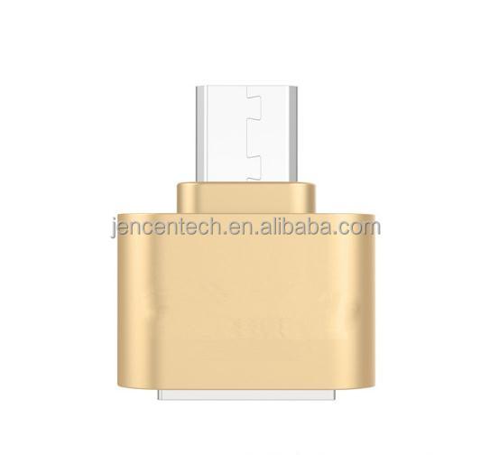 Haute qualité En Métal plaqué USB 2.0 micro OTG adaptateur - ANKUX Tech Co., Ltd