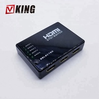 High Quality 5 in 1 out 4K 3D 1080P Video HDMI Switch 5X1 Switcher For HDTV PS3 DVD switcher with IR Remote