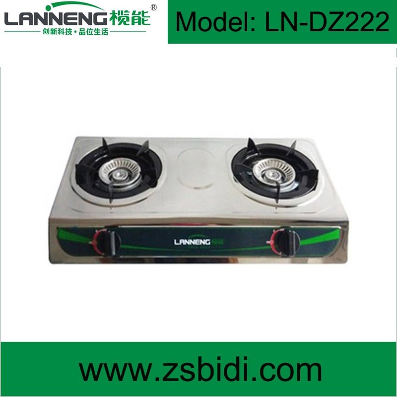 Lanneng Competitive Price Stainless Steel Table Gas Cooker with Piezo or Pulse Ignition