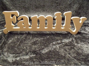 Wooden Words Family MDF Letters wood table letters