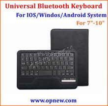"7""-10"" Tablet PC Universal bt keyboard Buckle leather case suit for Android Windos IOS system bt 3.0"