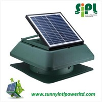 15 watt Solar Attic Ventilation Fan in 14 inch ducting
