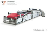 SGIA ISO CE Automatic Two Color Roll To Roll Non-Woven Fabric Screen Printing Machine FB-12010 I I