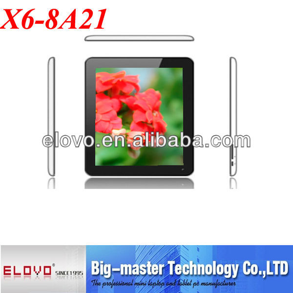 8 inch tablet pc supporting dual core motherboard