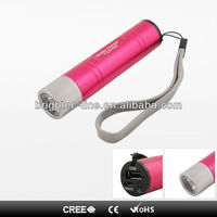 smallest portable charger power bank with led light for cell phones