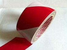 pvc warning tape red and white strip