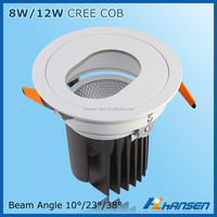 6 inch 12w 5inch down light recessed mount surface led spotlight ac100-240v cob