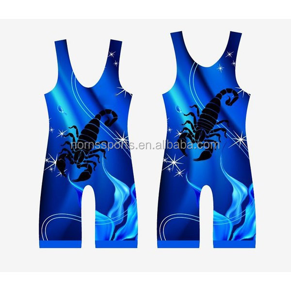 Hot Sublimation Printing Women Wrestling Singlets Wholesale