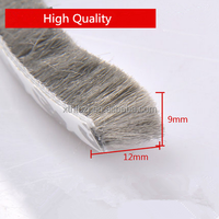High quality wool pile weatherstripping with fin