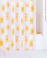 yellow 100% polyester bath shower curtains