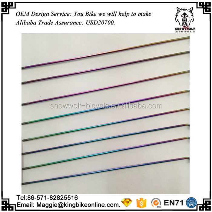 14G oil slick bicycle spokes length to OEM