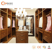 Open style solid wood wardrobe, wardrobe aluminium glass door designs