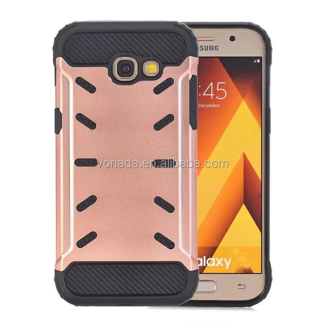 Hybrid Rubber Rugged Shockproof Mobile Phone Case For Samsung Galaxy A3 2017