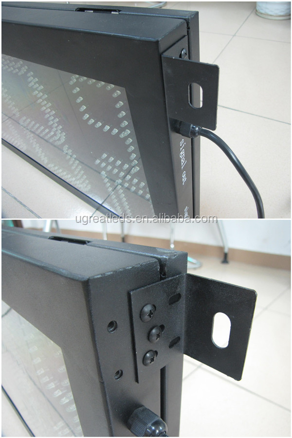 High brightness waterproof steel cabinet electronic gas price sign