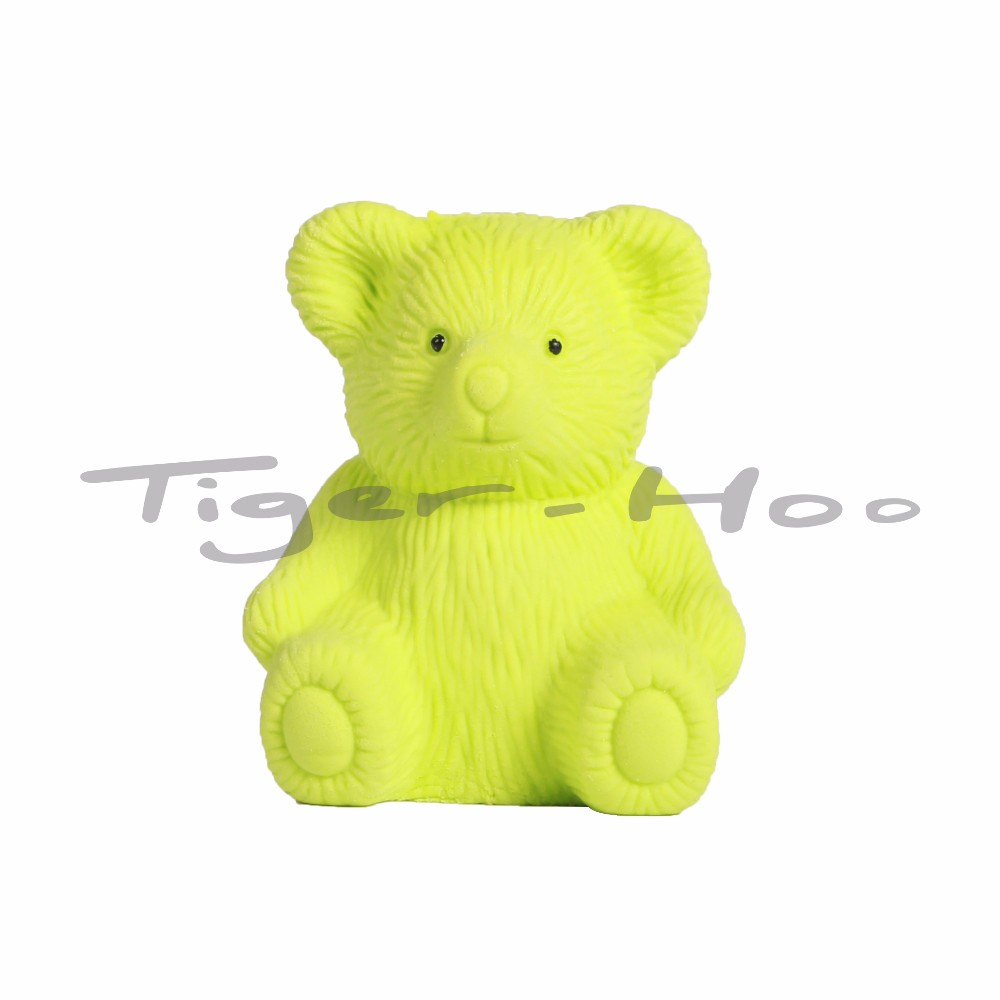 Kid Funny Animal Shape Fancy 3D Bear Shaped Length Customized Rubber Eraser With Sharpener