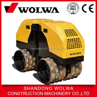 remote control Trench backfill compactor double drum road roller for sale
