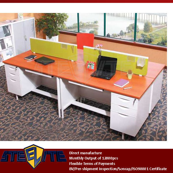 office table laminate melamine office furniture standard executive size office table with partition
