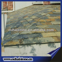 Factory own quarry rustic natural stone coated roof tile