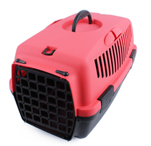SMPC00007 Durable Pet Carrier Bag Portable Plastic Cat Flight Carriers