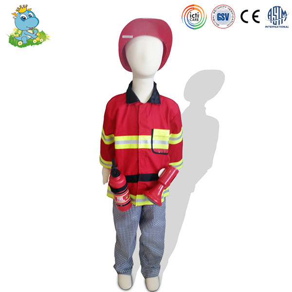 Custom kids fireman role play costumes wholesale children clothes set