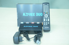 azfree duo twin tuner dvb-s2 digital satellite receiver for free iks/sks receptor support usb,iptv and gprs