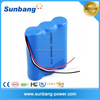 Durable rechargeable 18650 3.7v cylinder lithium ion battery pack 12v