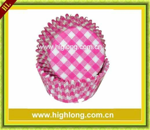 Gingham designs paper baking cup ,cake cup ,muffin cases.