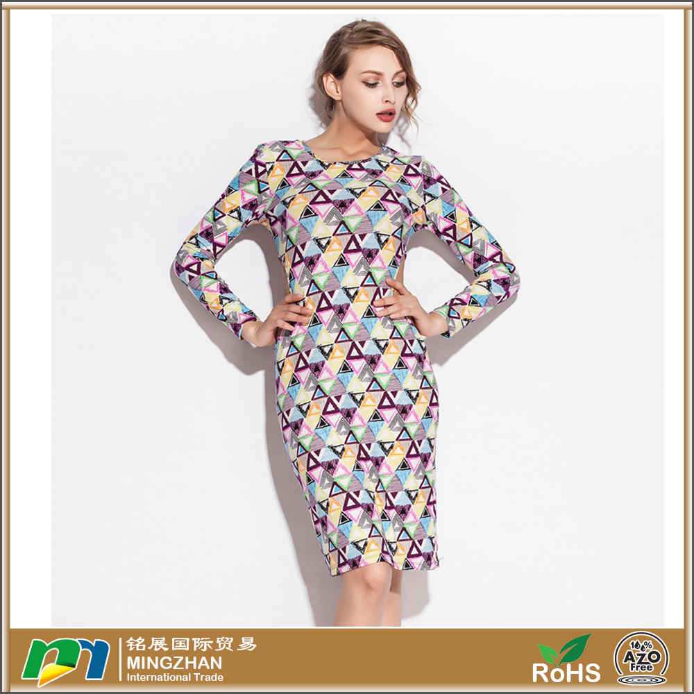 Wholsale Slim long Sleeves woman dress