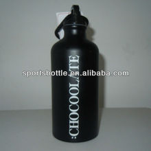 black Non-lead stainless steel water bottle with English letters