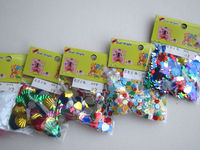 Hot sell beads set DIY bead kit toy set for girls after school wooden string beads toy