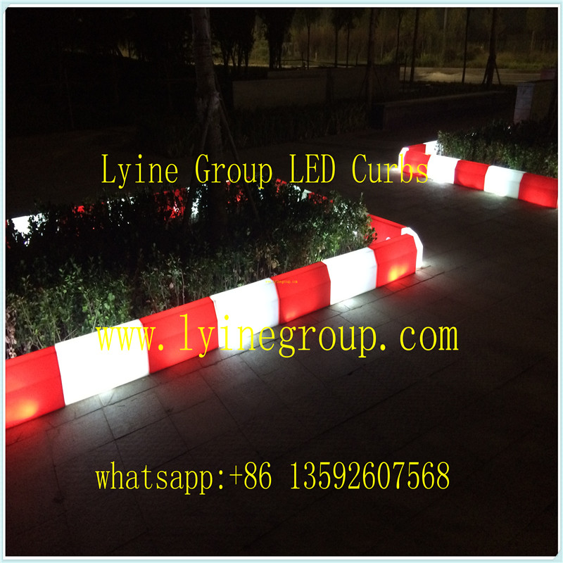 LED Curb Safety traffic parking Garden landscaping pathway road kern stone for safe walking