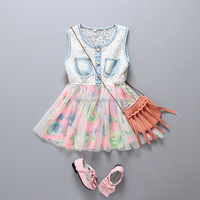 Princess high quality baby new model girl dress 2015